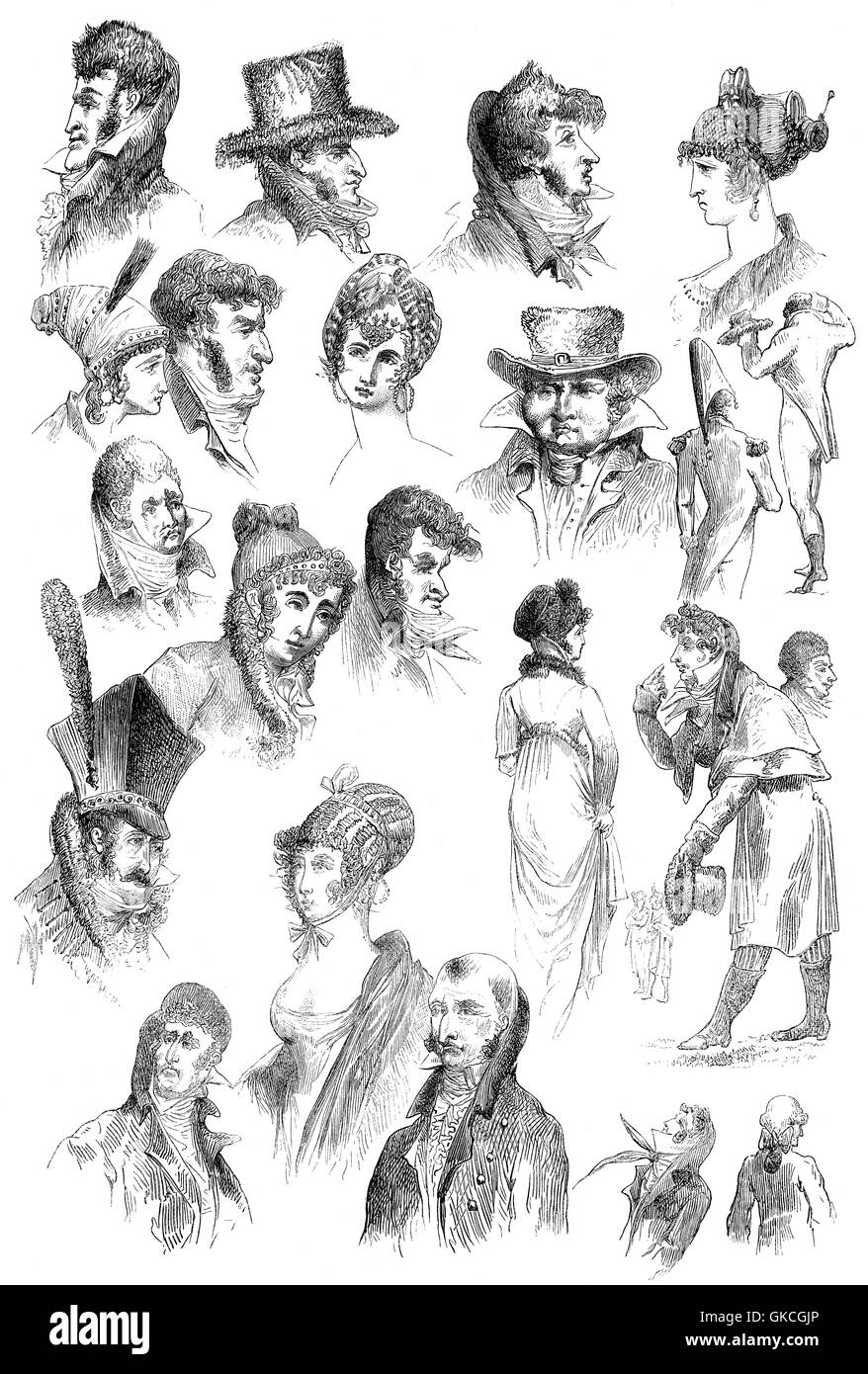 Caricatures by Thomas-Charles Nodet - Stock Image
