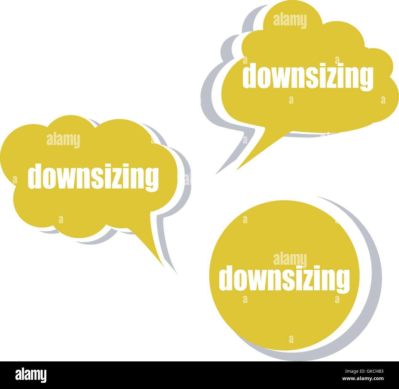downsizing. Set of stickers, labels, tags. Business banners, infographics vector - Stock Image