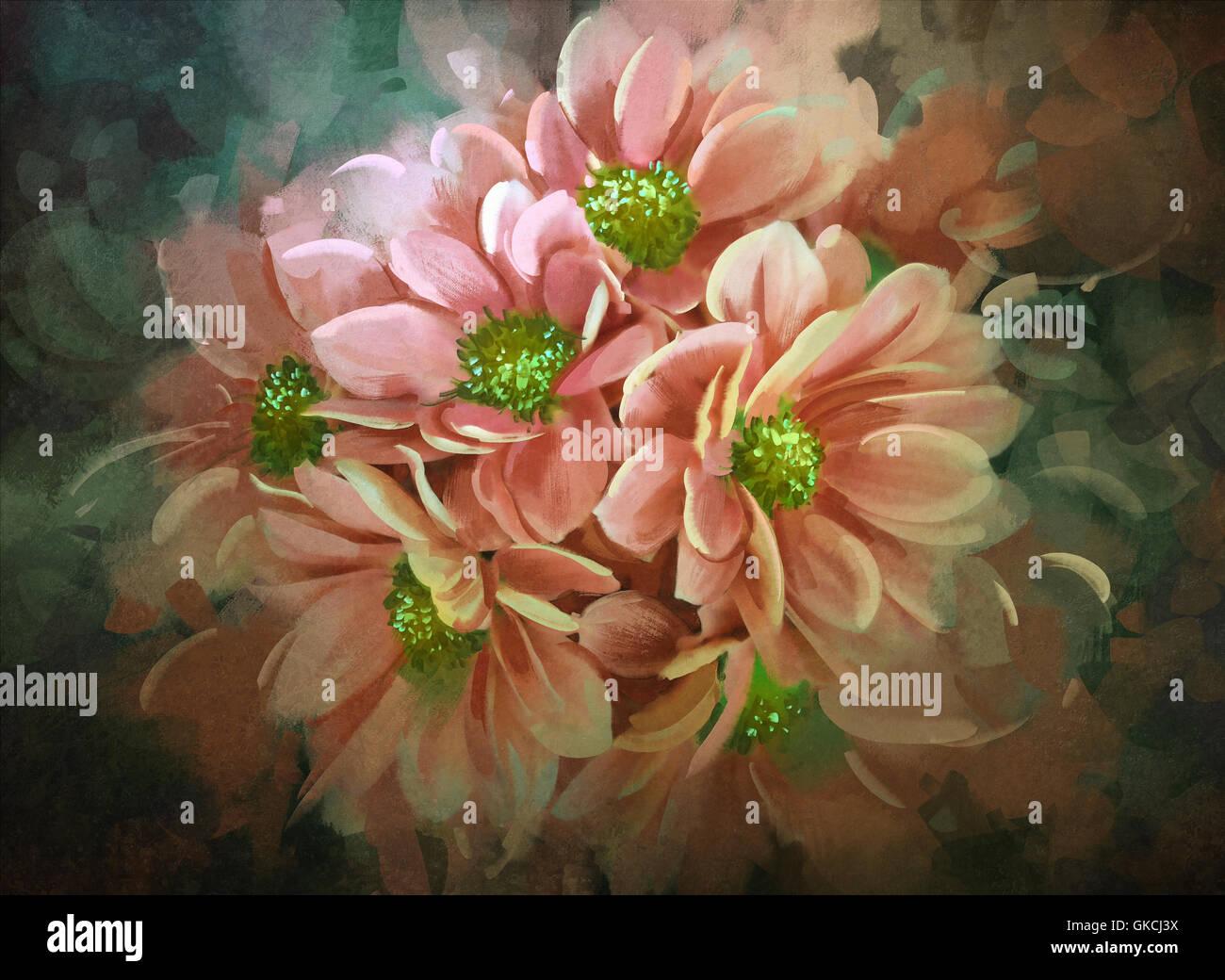 Beautiful flowerscolor bloomingillustrationdigital painting stock beautiful flowerscolor bloomingillustrationdigital painting izmirmasajfo