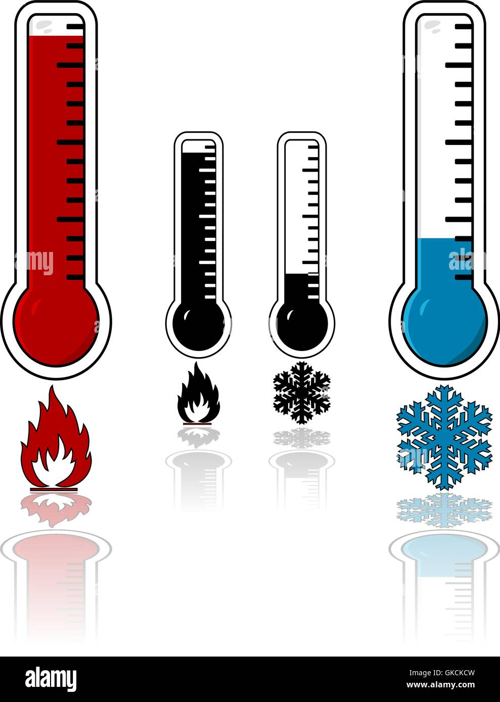 Hot and cold temperature - Stock Vector