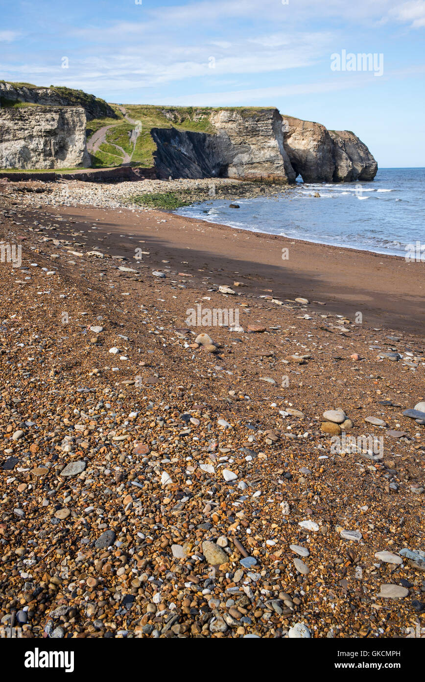 Blast Beach and sea cliffs at Nose's Point, Dawdon, County Durham, UK - Stock Image