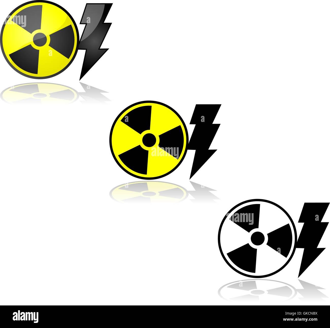 Nuclear energy Stock Vector