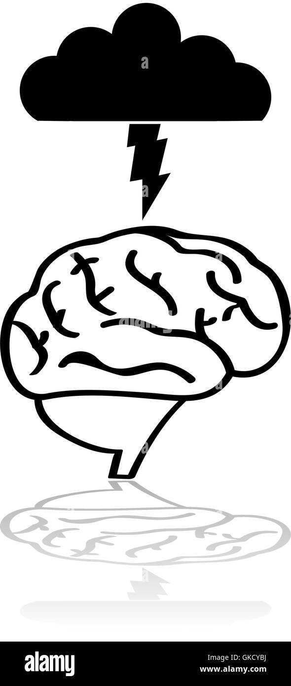 Brain storm - Stock Image
