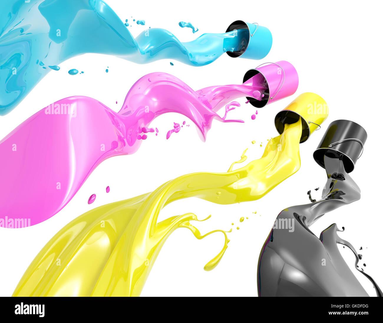 colour magenta colored - Stock Image