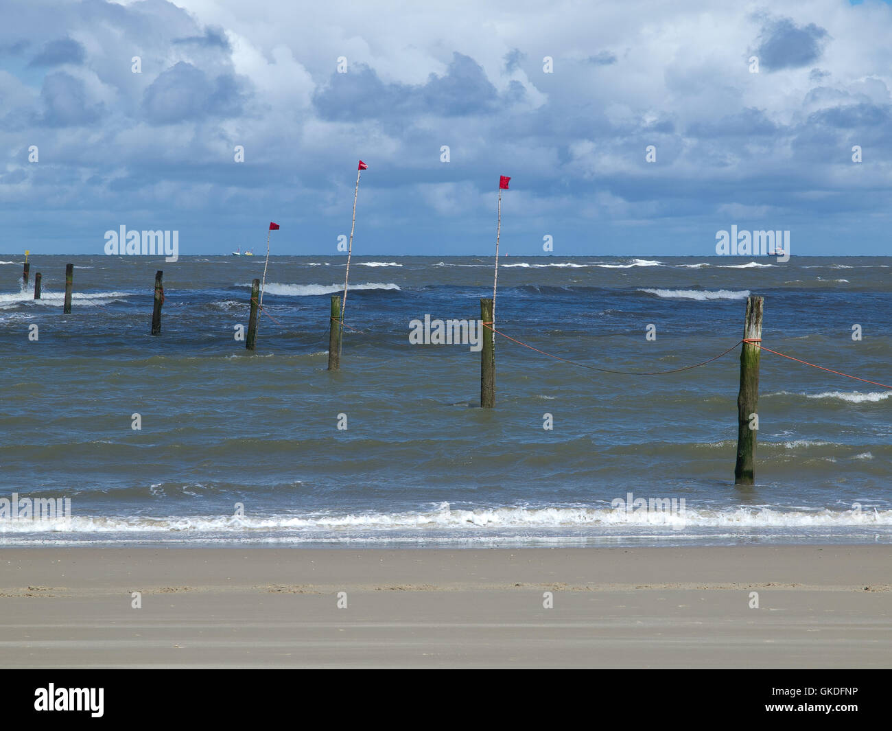 the beach of the german island of norderney Stock Photo