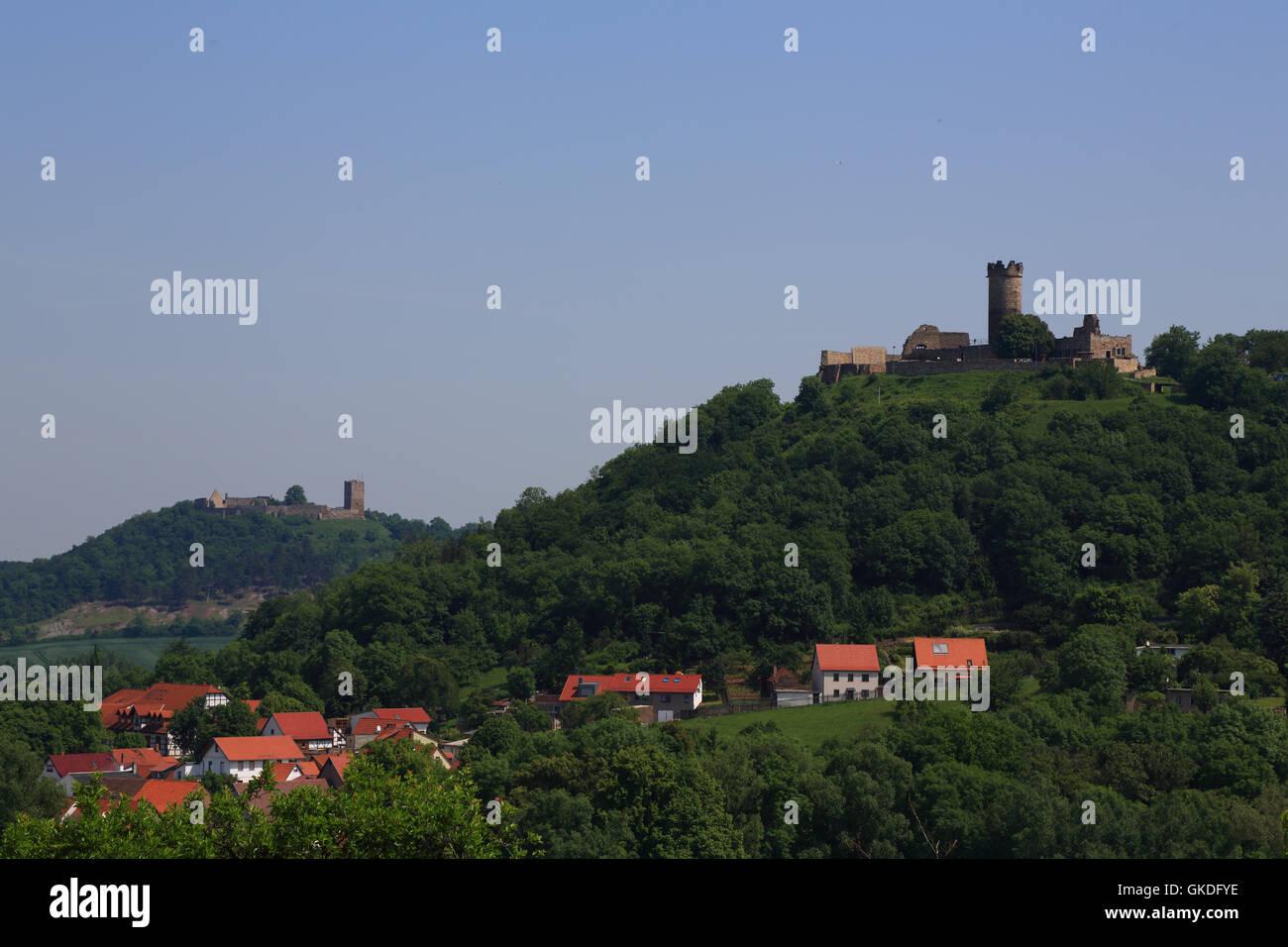 wanderslebener same and muhlburg in thuringia - Stock Image