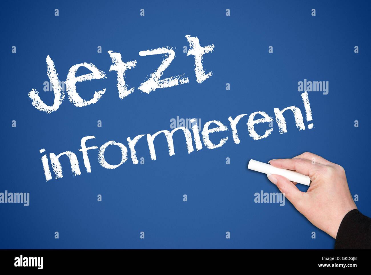 inform now ! - Stock Image