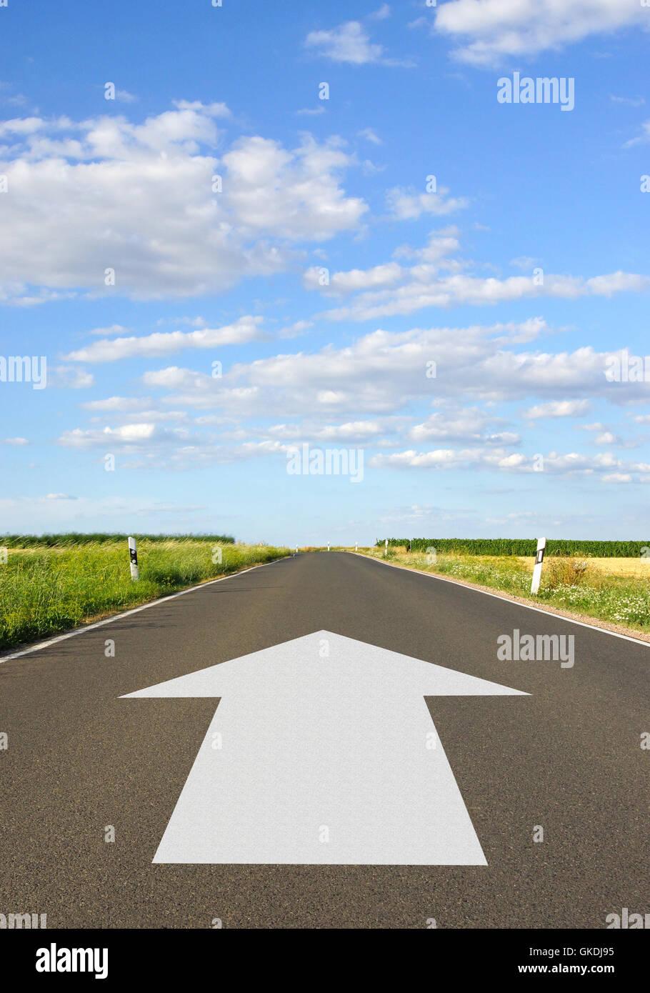 future direction aim - Stock Image