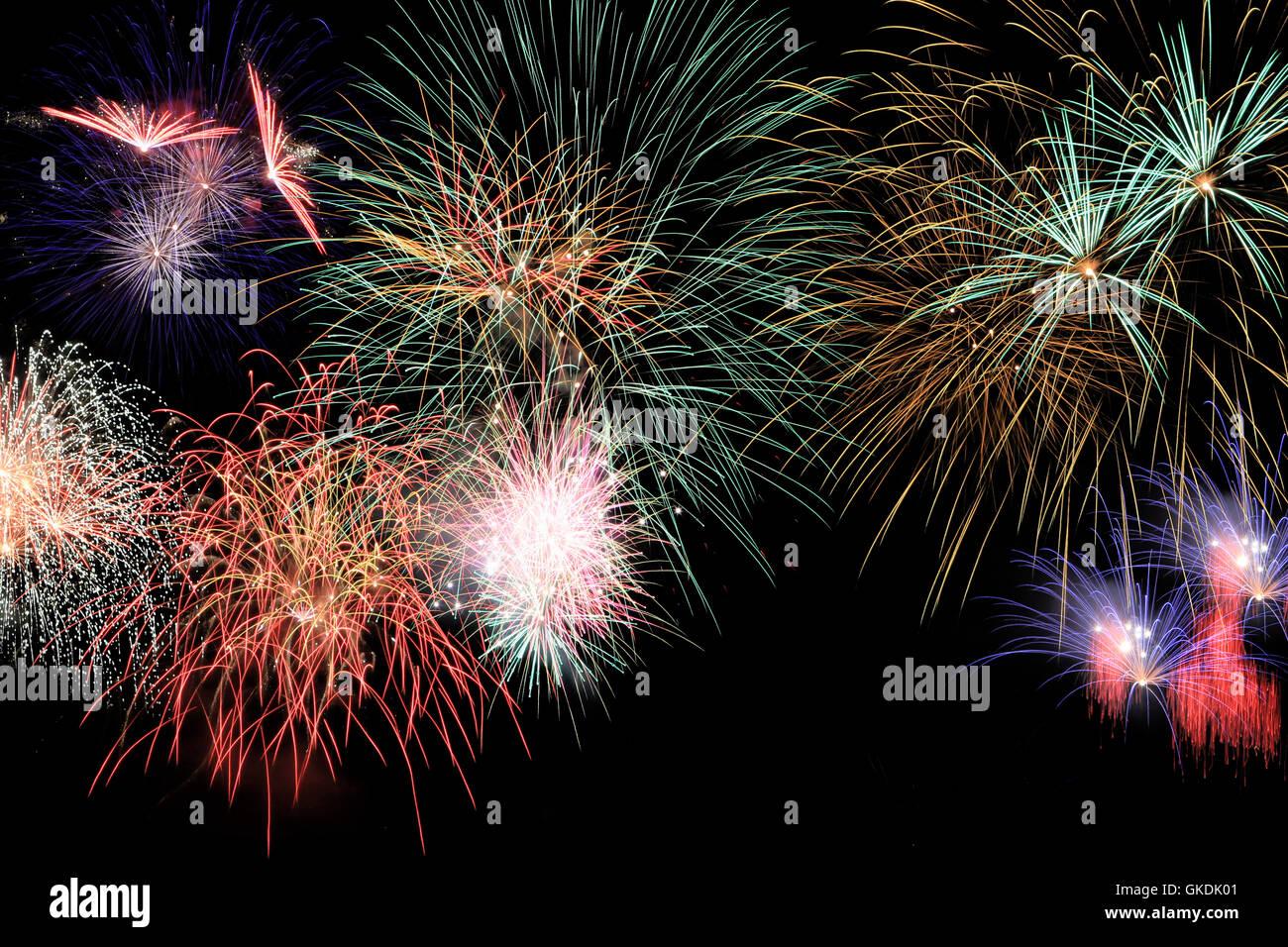 fireworks scene - Stock Image