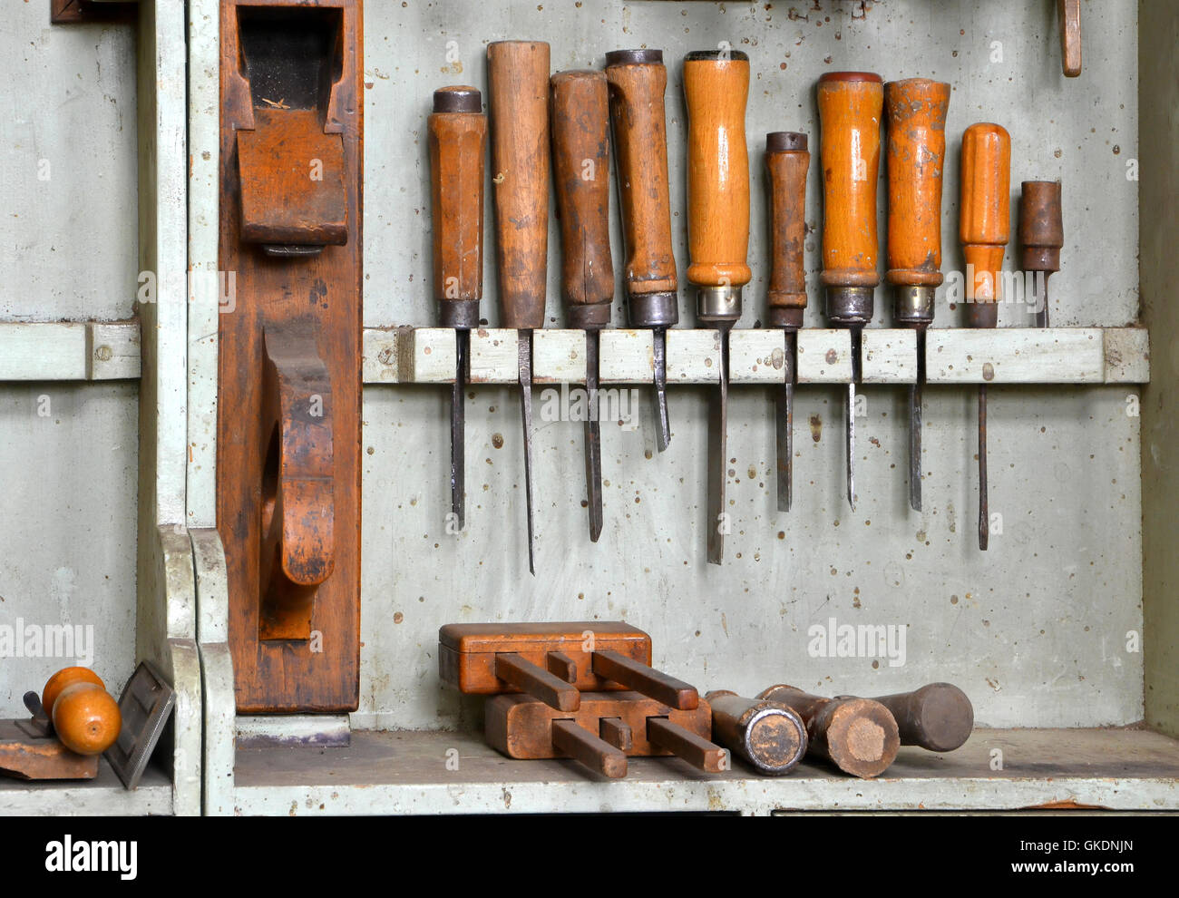 tools in a carpenter - Stock Image