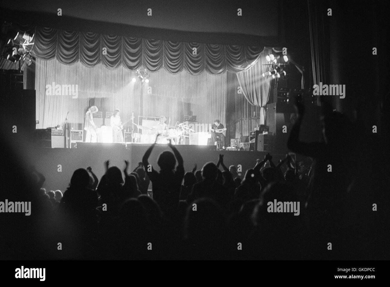 King Crimson on stage at Greens Playhouse  (the Apollo Theatre) Glasgow, 1971 - Stock Image