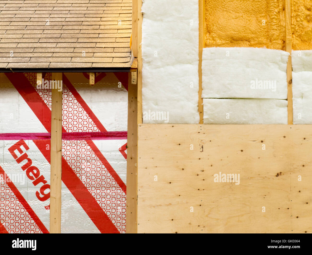 Wall insulation to save heating energy Stock Photo: 115248172 - Alamy