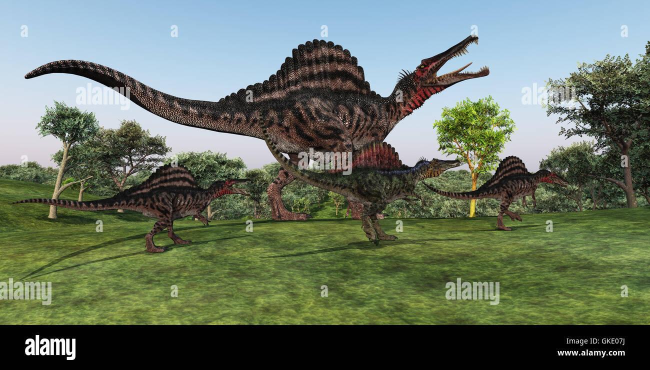 Spinosaurus Mother - Stock Image
