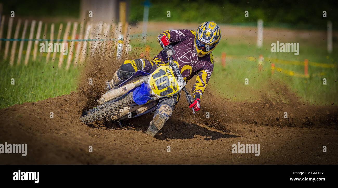 Dirt bike racing - Stock Image