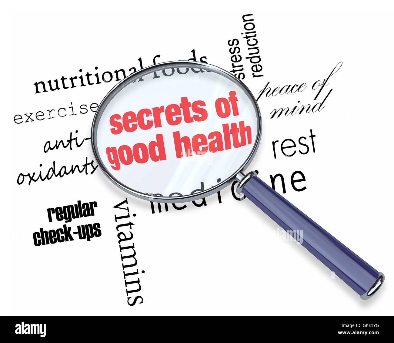 Searching for the Secrets of Good Health - Stock Image