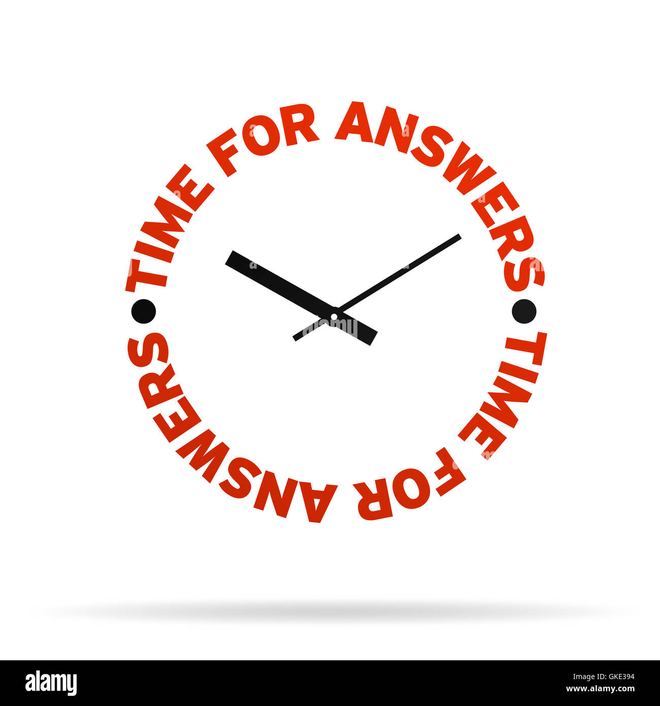 Time For Answers Clock - Stock Image