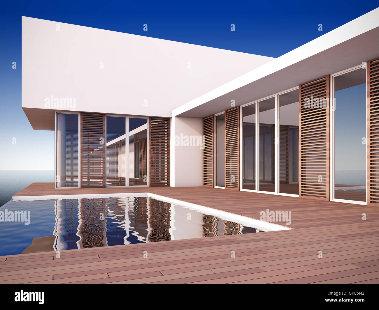 Modern House In Minimalist Style Stock Photo 115252510 Alamy