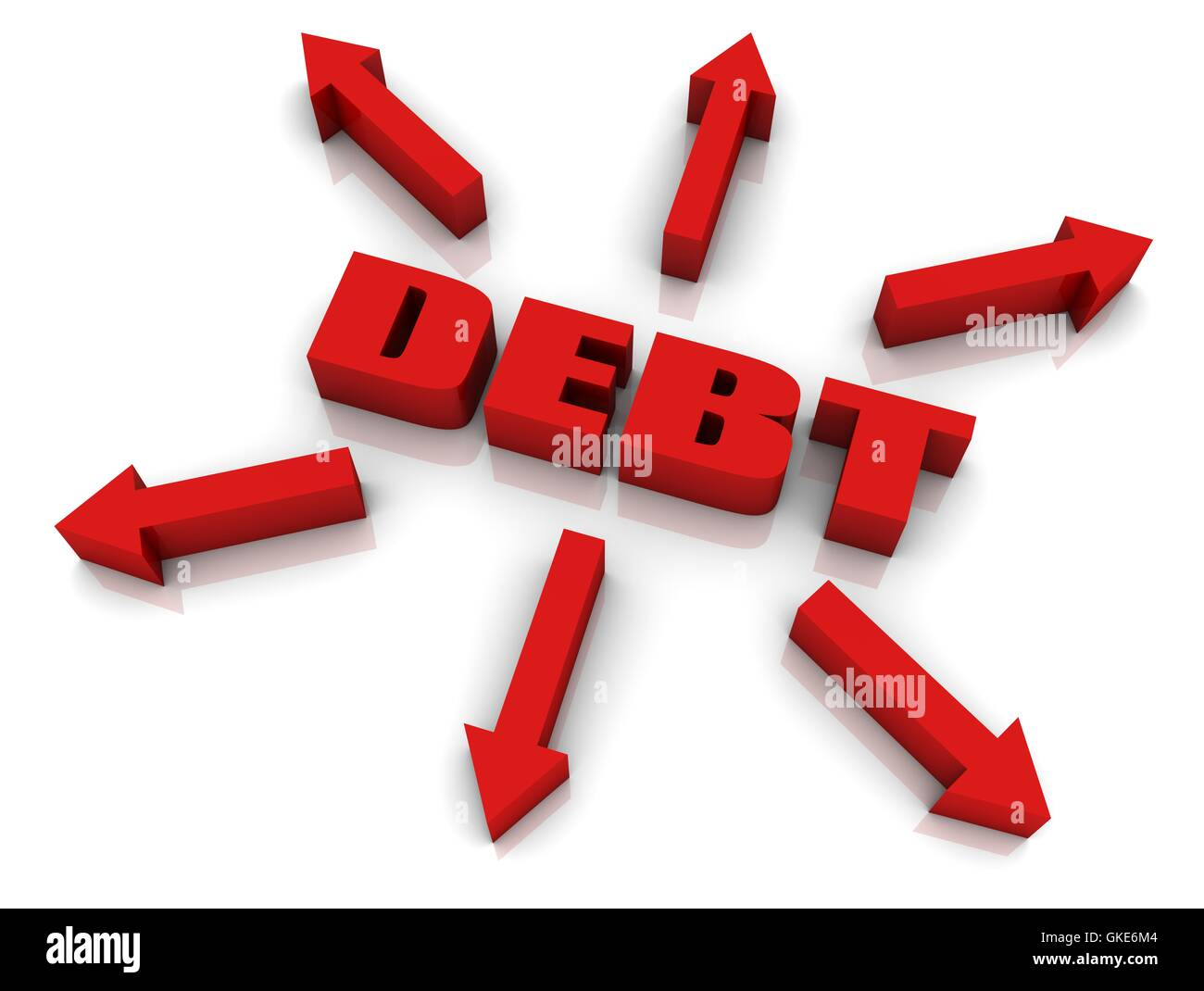 Debt Growth - Stock Image