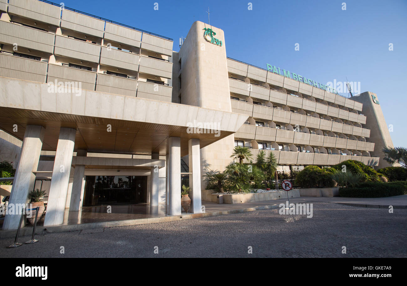 The Palm Beach Hotel in Larnaca, Cyprus. - Stock Image