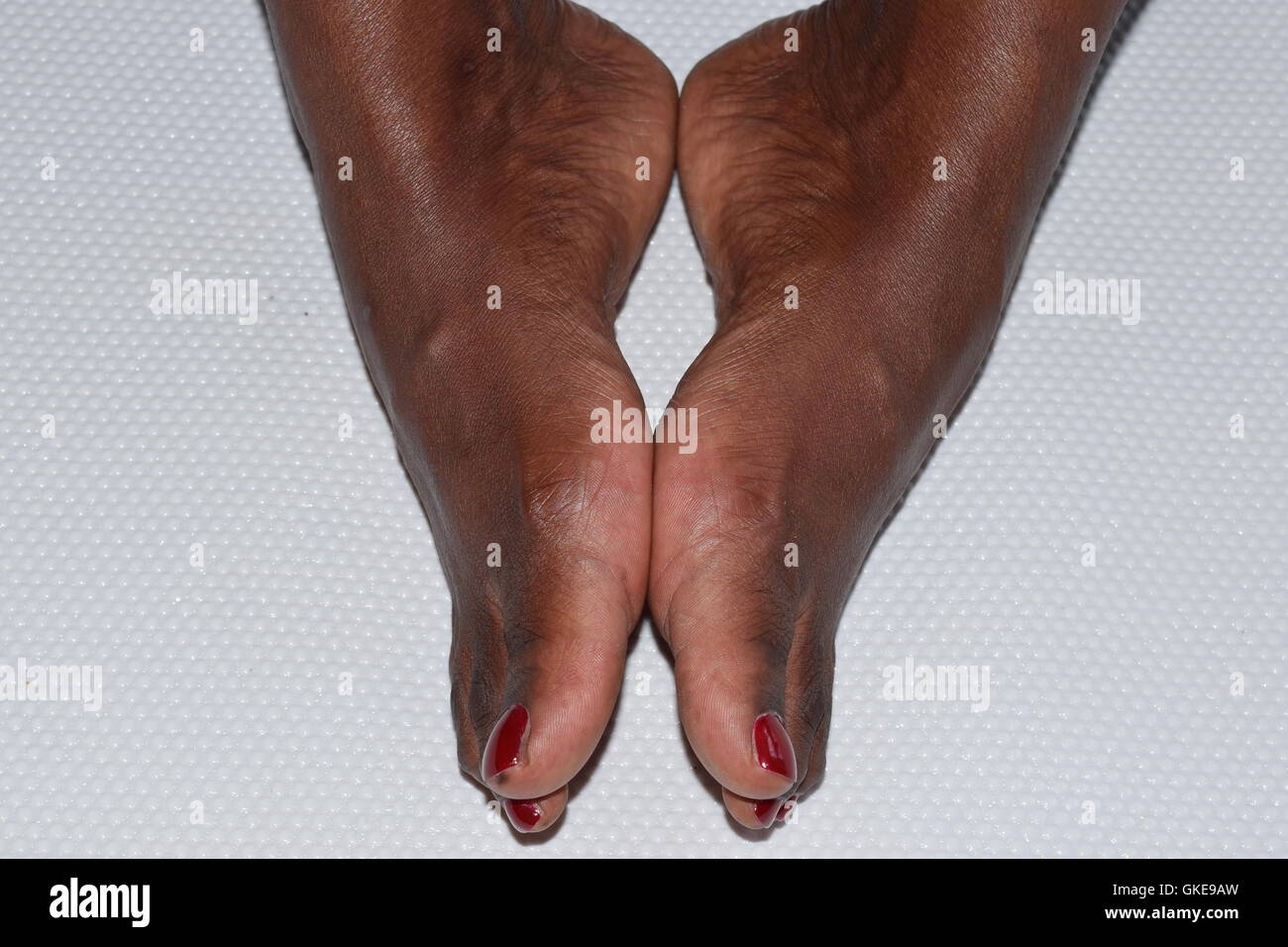 Black Female's Feet Together - Stock Image
