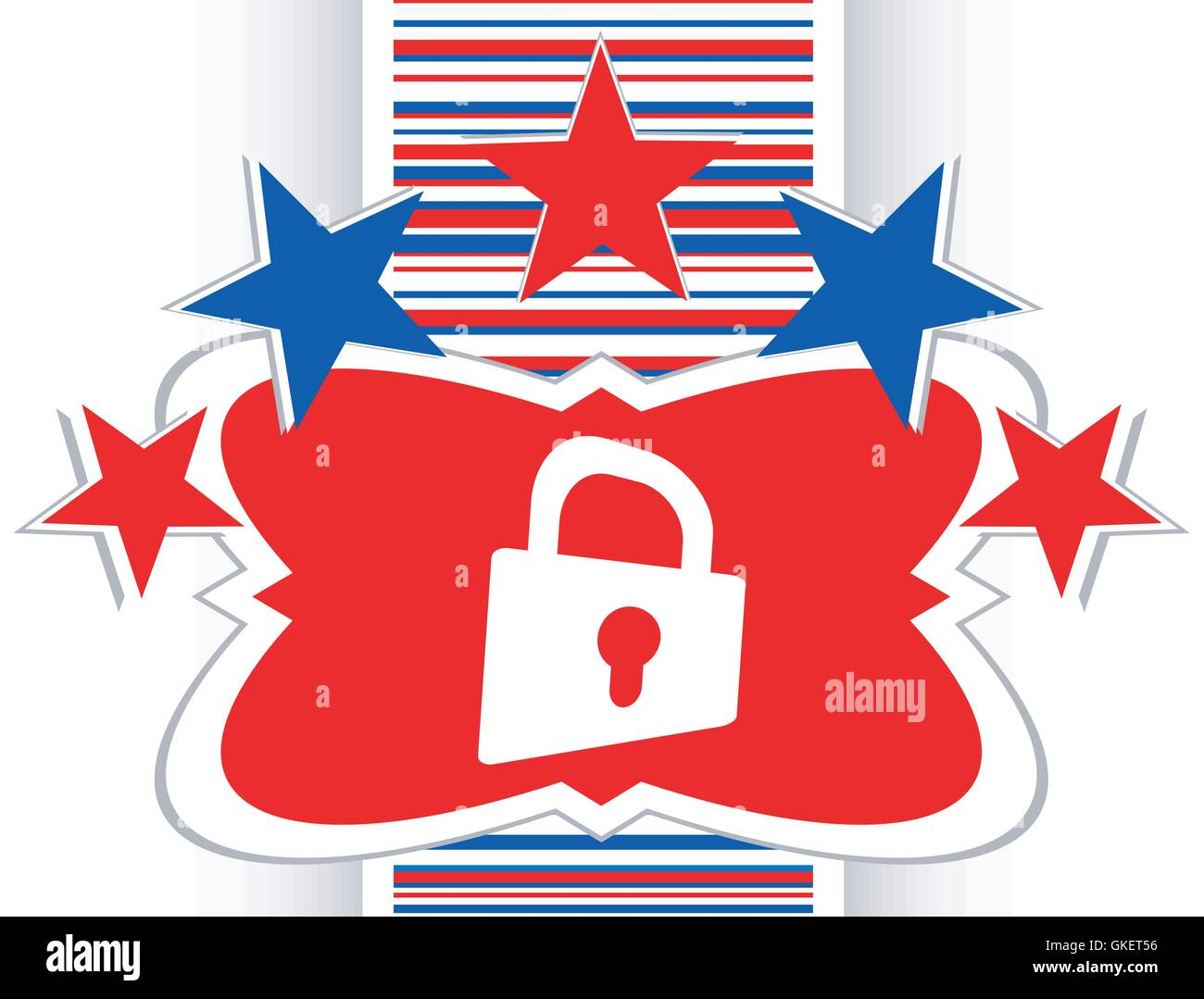 Padlock icon web sign. Rounded web app button vector - Stock Image