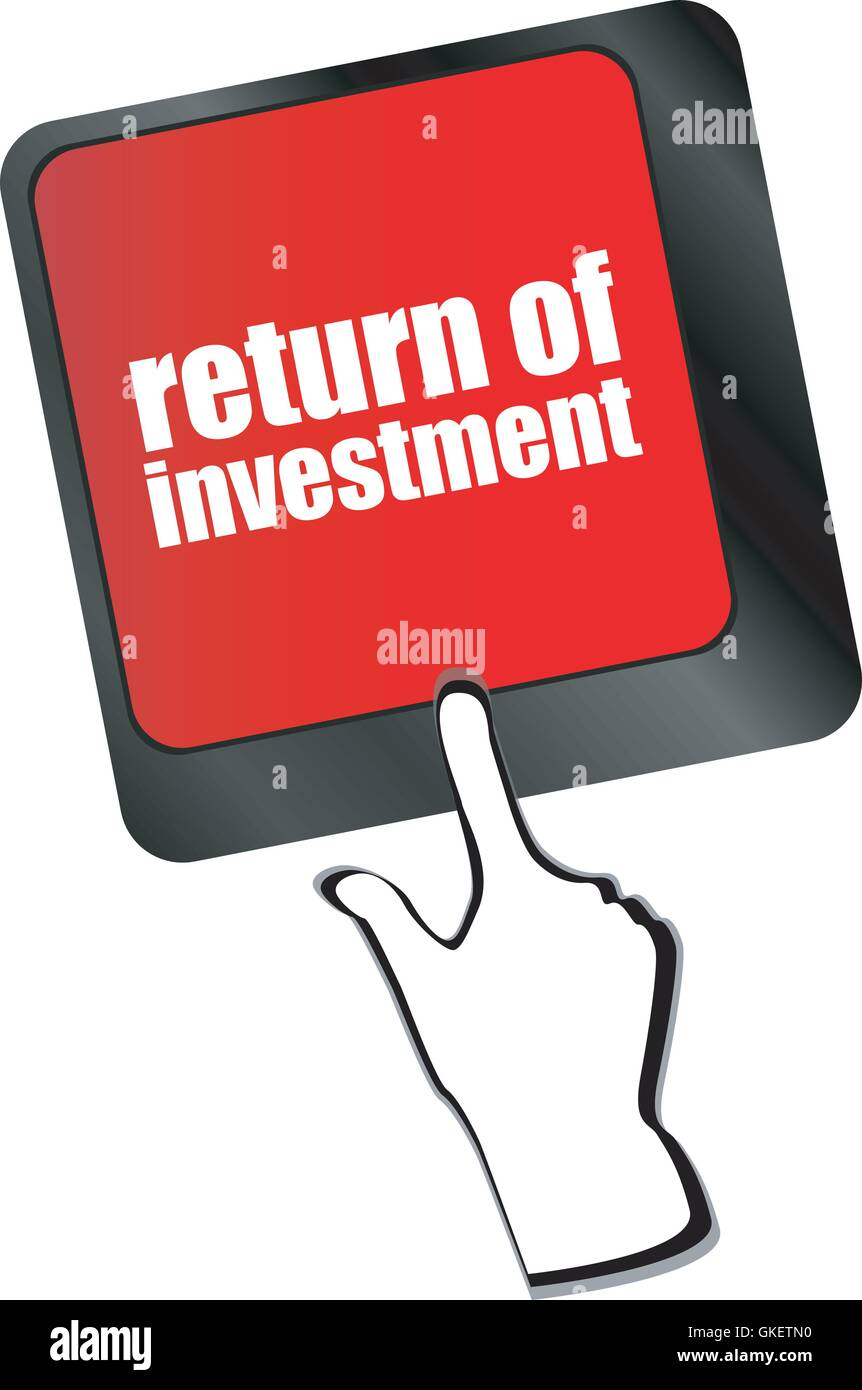 invest or investing concepts, with a message on enter key or keyboard vector - Stock Image