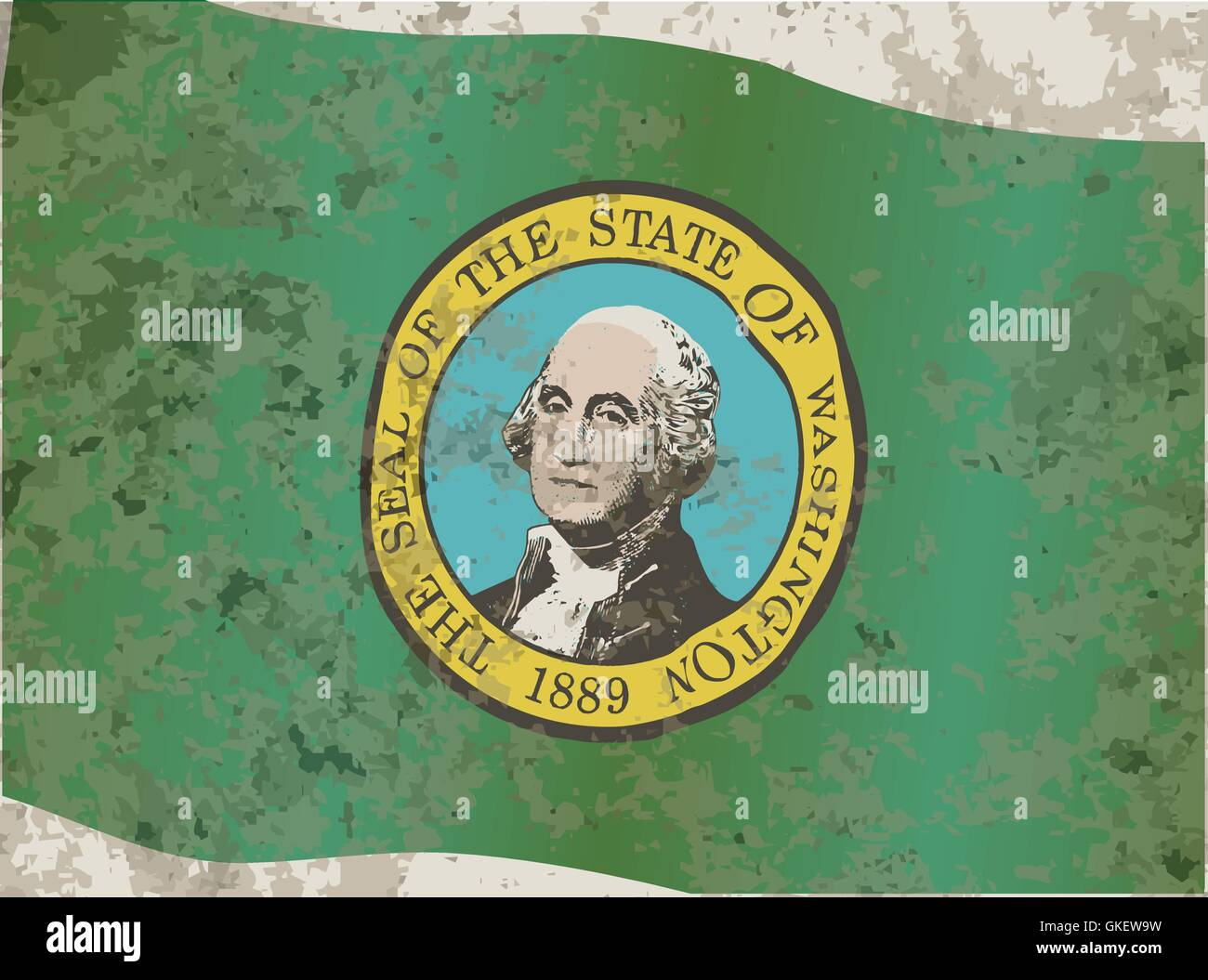 Flag of Washington State - Stock Vector