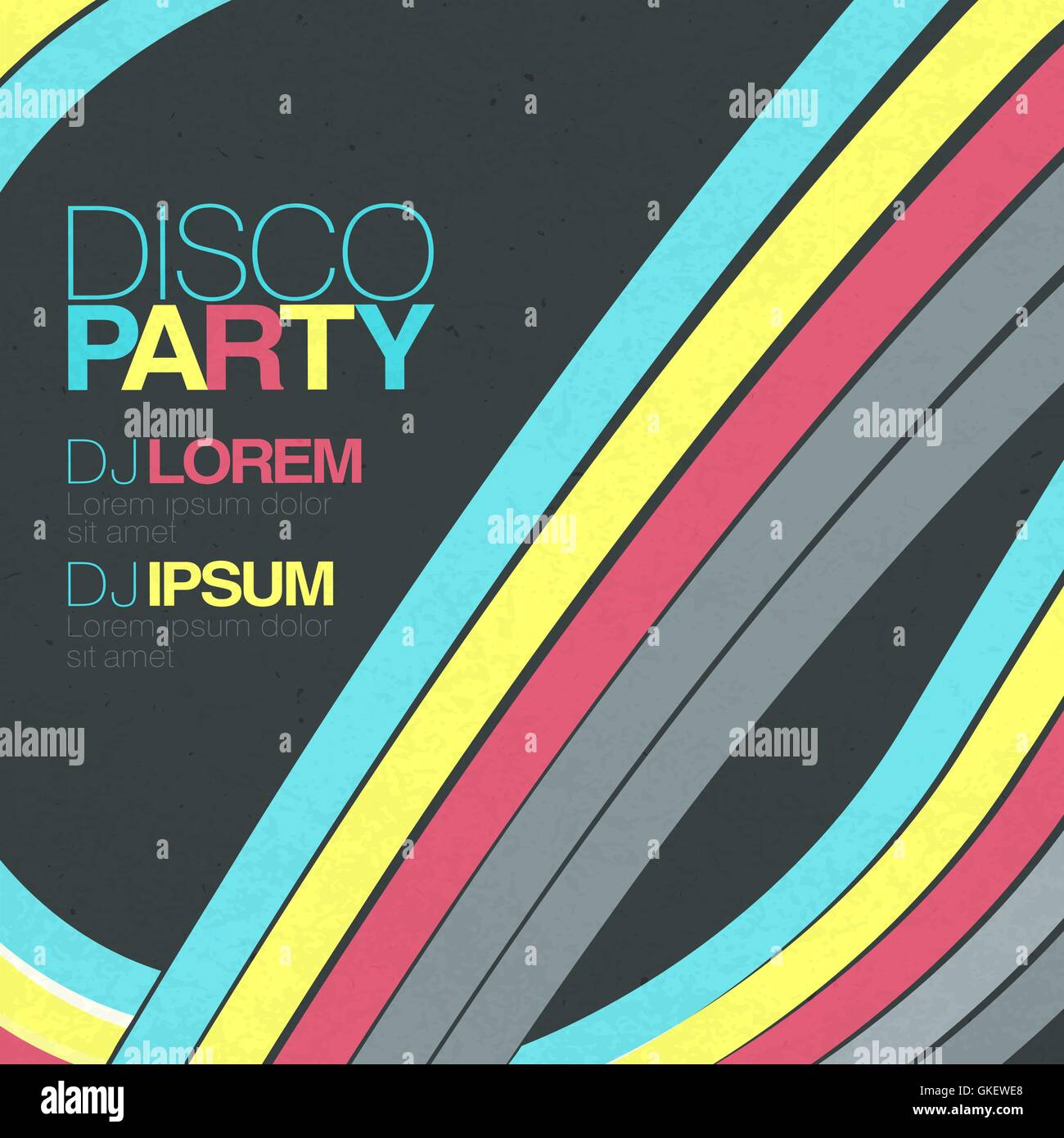 Retro disco flyer template Stock Vector Art & Illustration, Vector ...