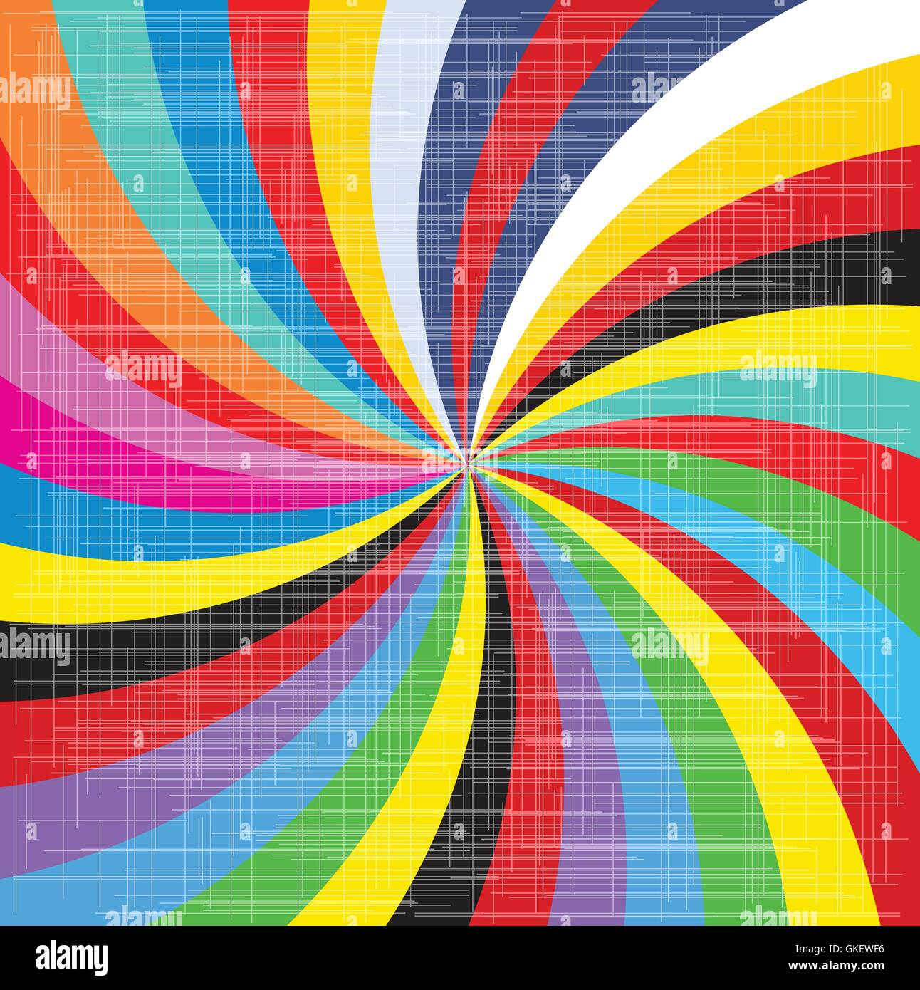 Pop Art Spiral - Stock Image