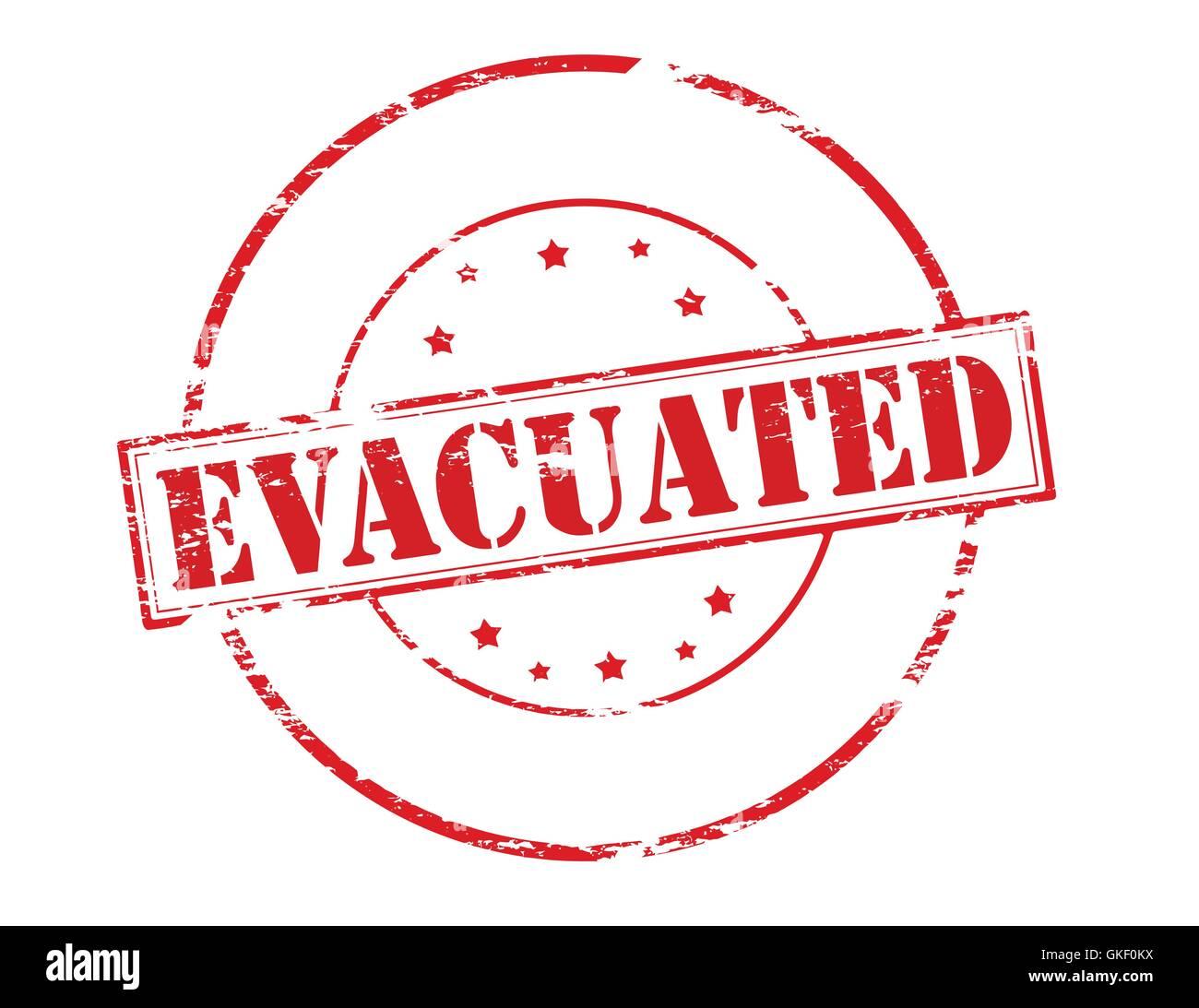 Evacuated - Stock Vector
