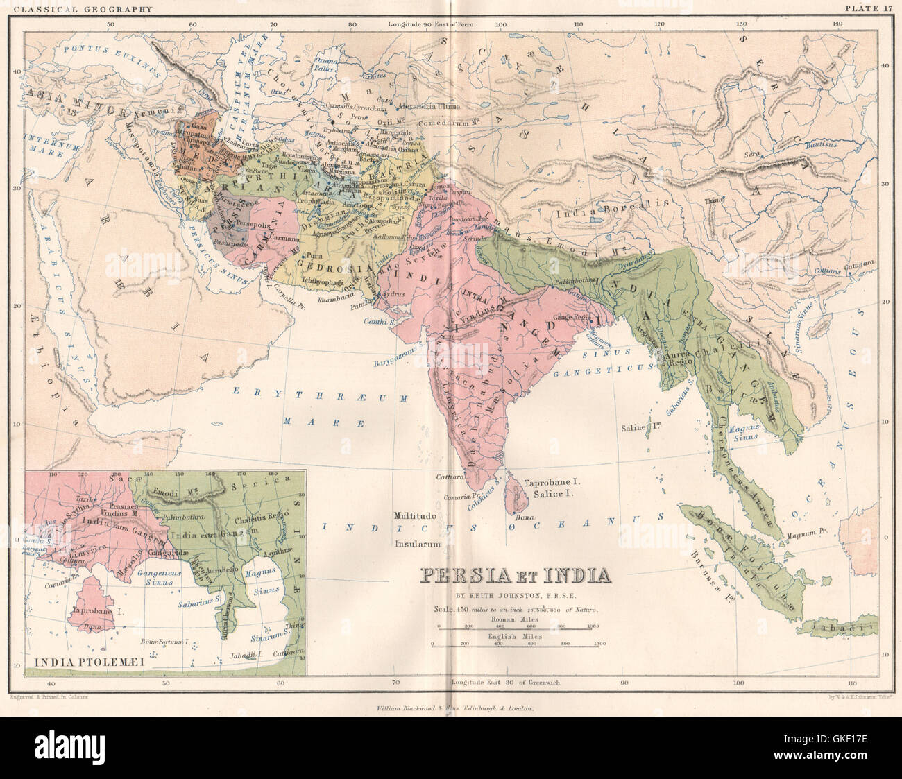 Ancient \'Persia et India\', & according to Ptolemy. Indochina Stock ...