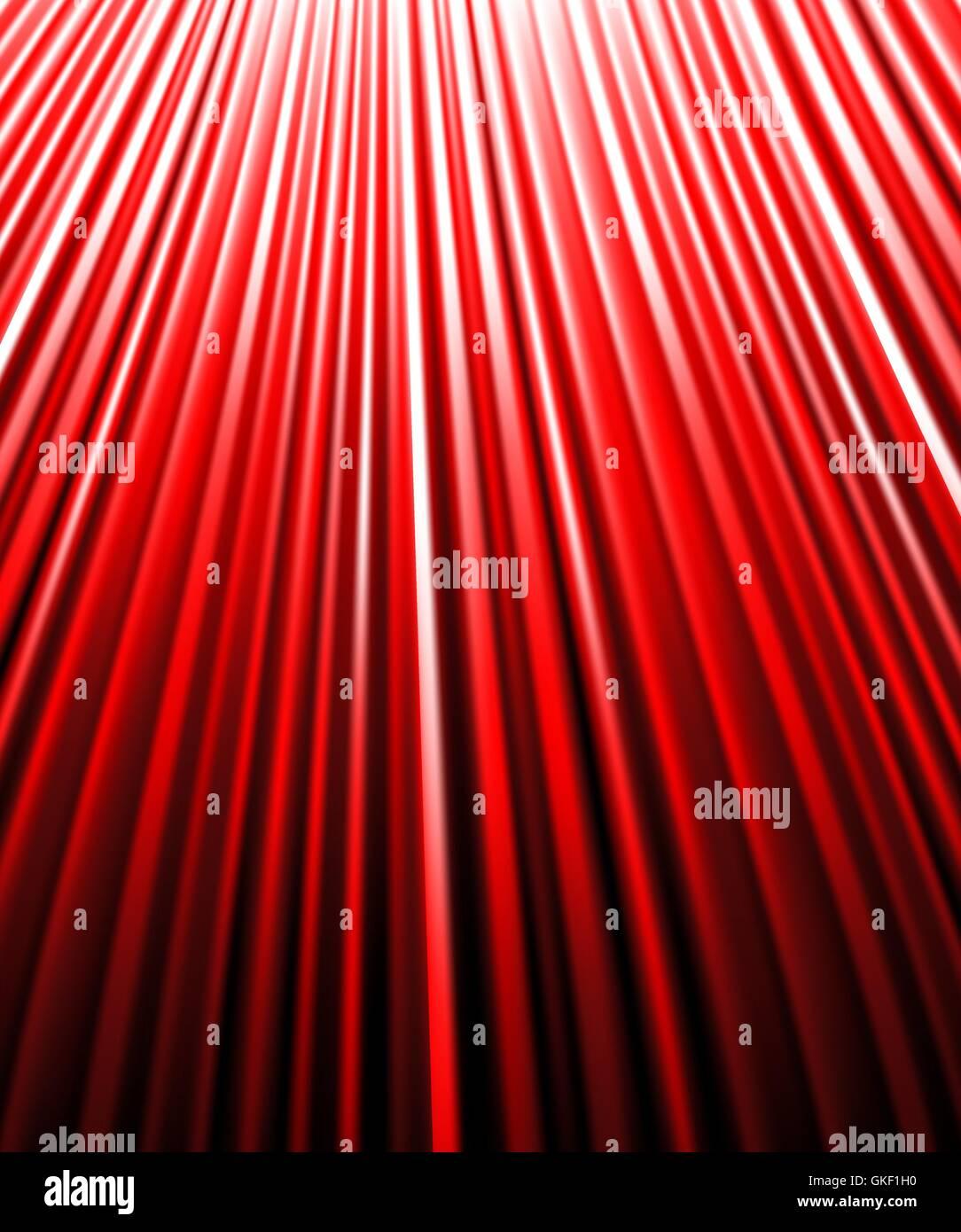 background of red luminous rays. - Stock Image