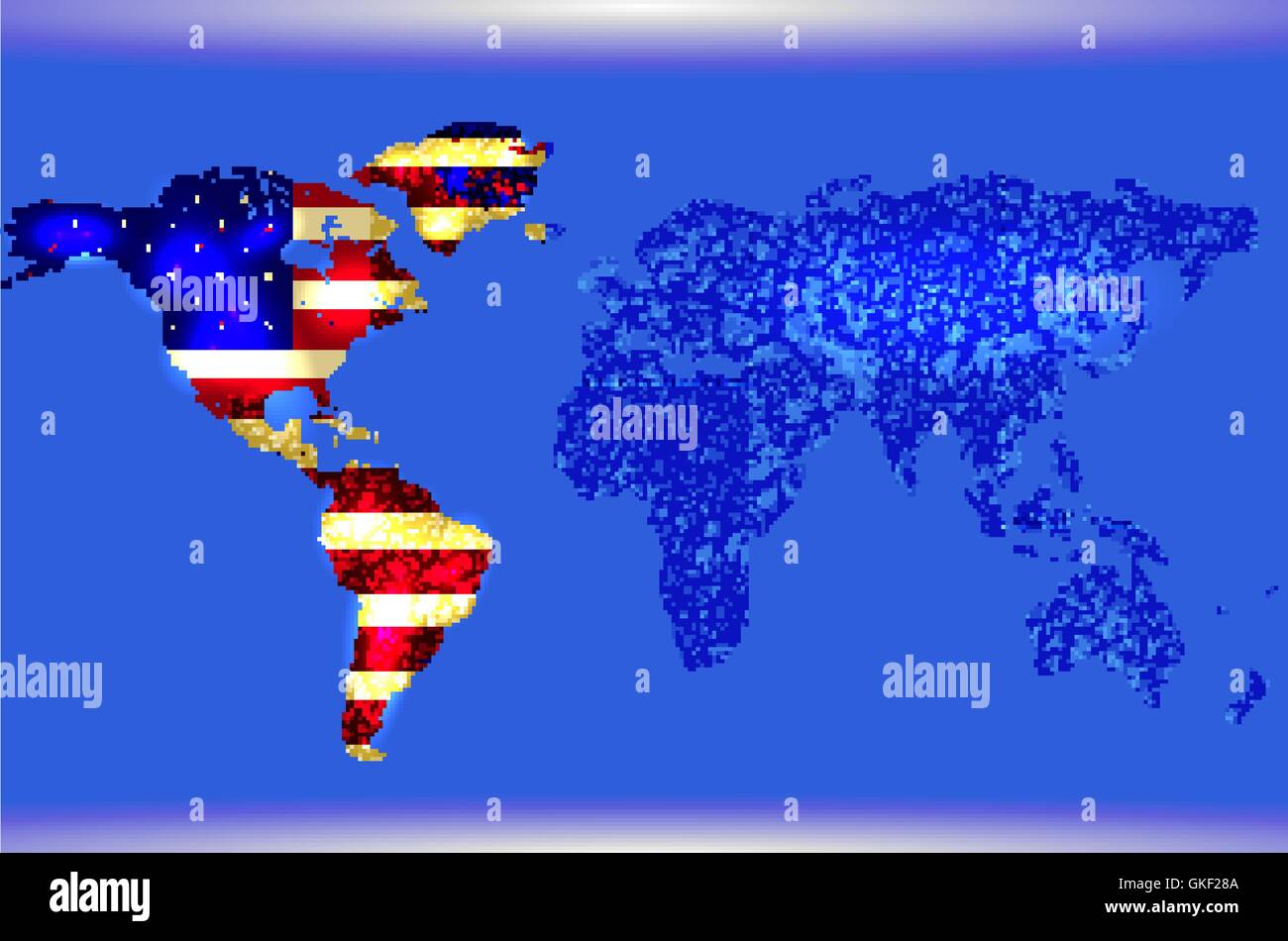 Blue illustrated world map abstract texture lines american flag blue illustrated world map abstract texture lines american flag gumiabroncs Images