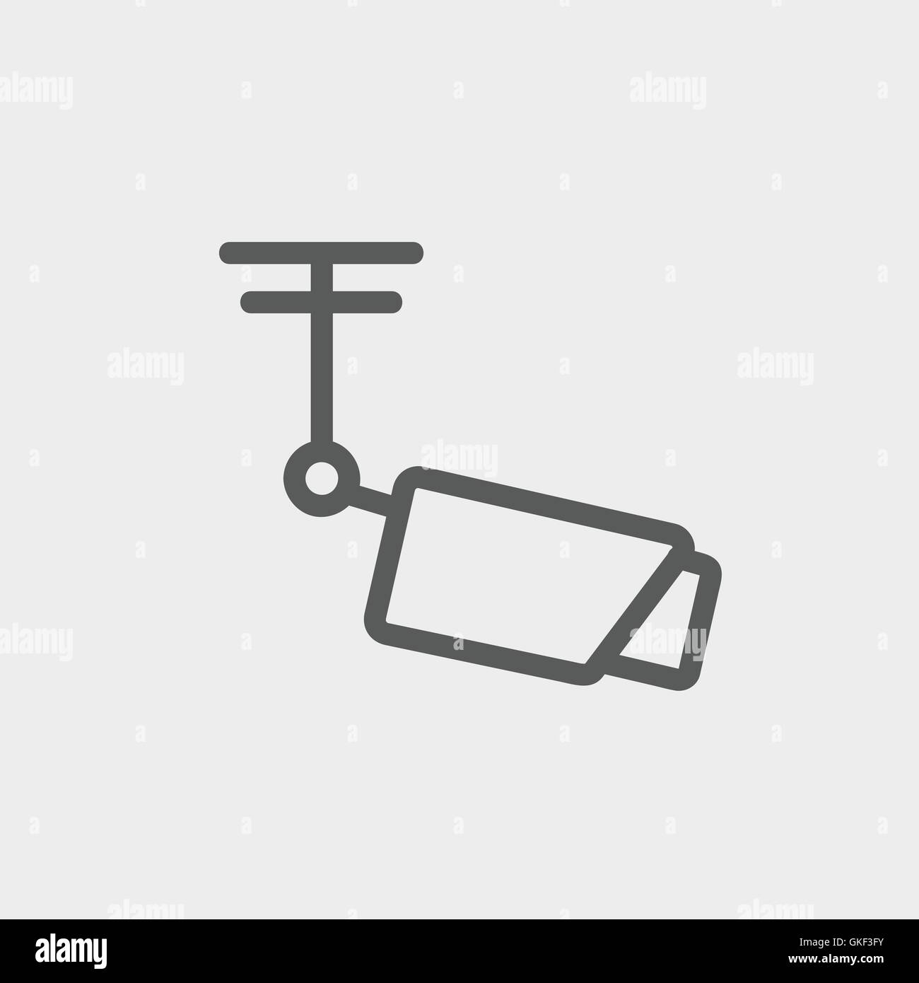 Rooftop antenna thin line icon - Stock Image
