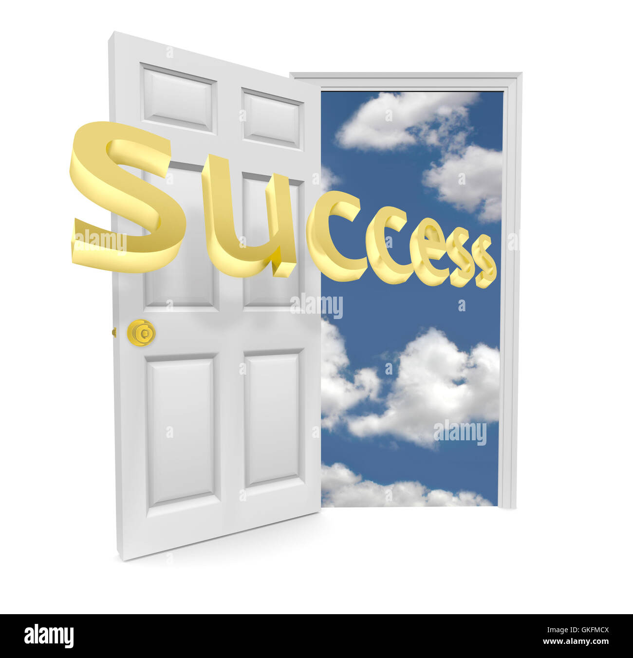 The Door to Opportunity - Success - Stock Image