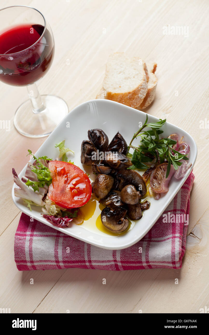 Try to cook a marinated champignon salad 50