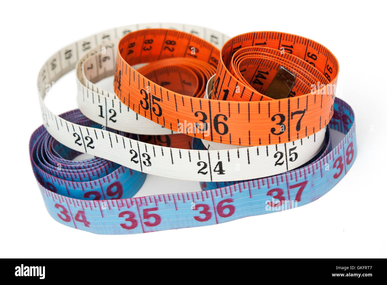 measurement of chest waist and hips - Stock Image