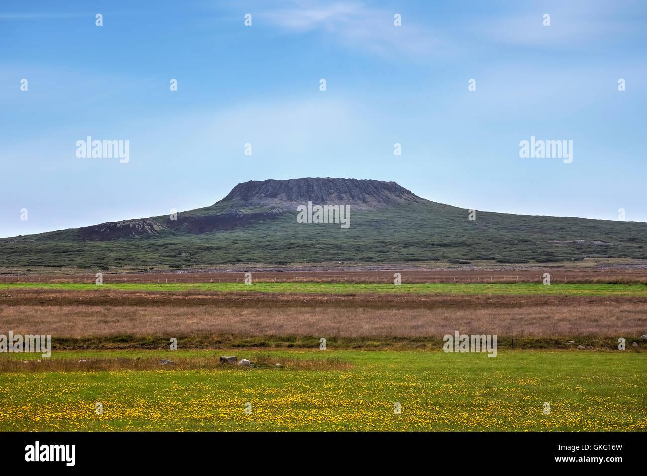 Eldborg, crater, Hnappadalur, Iceland - Stock Image