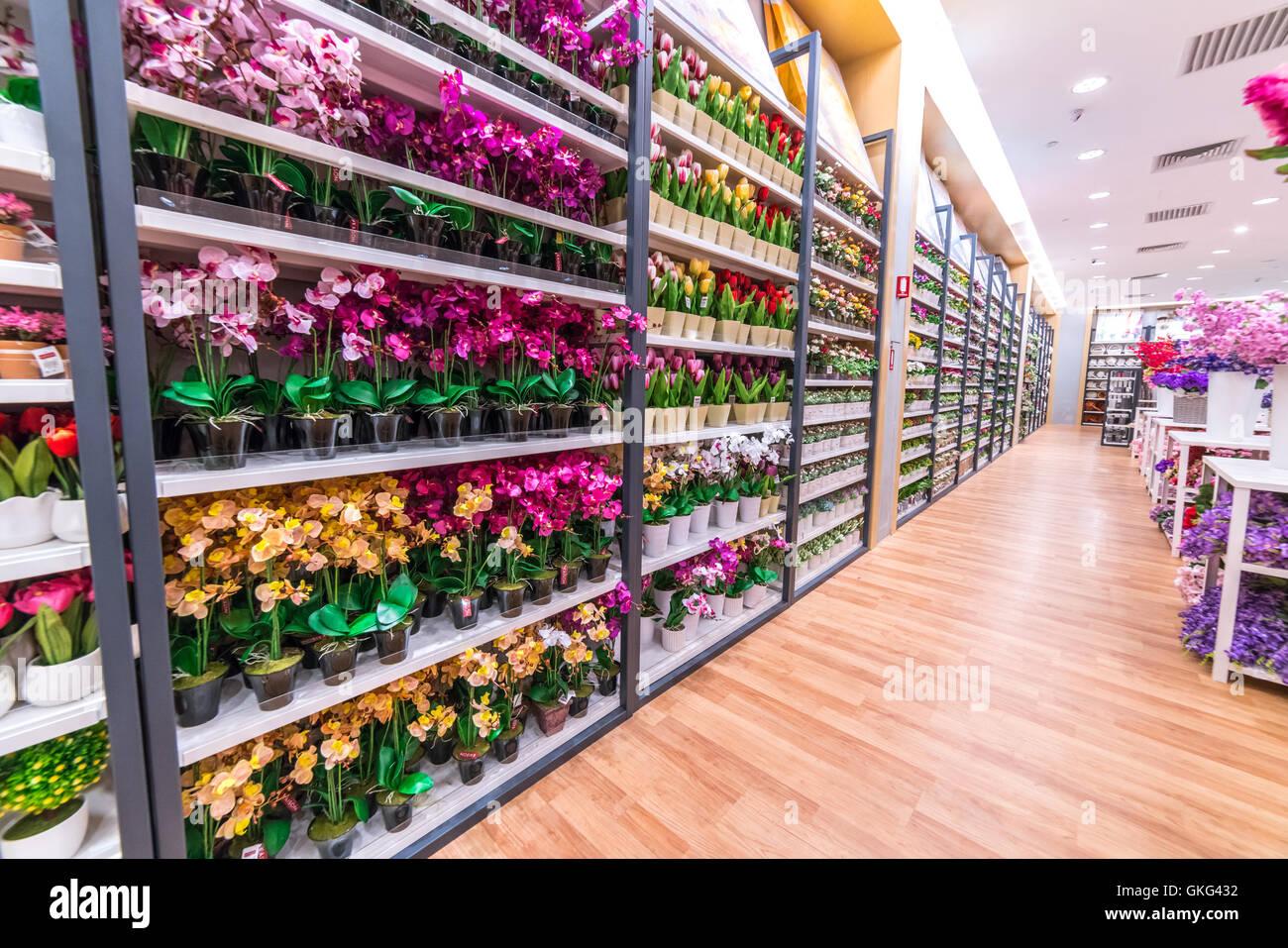 Kuala Lumpur Malaysia May 30 2016 Paper Flower Shop At Setia