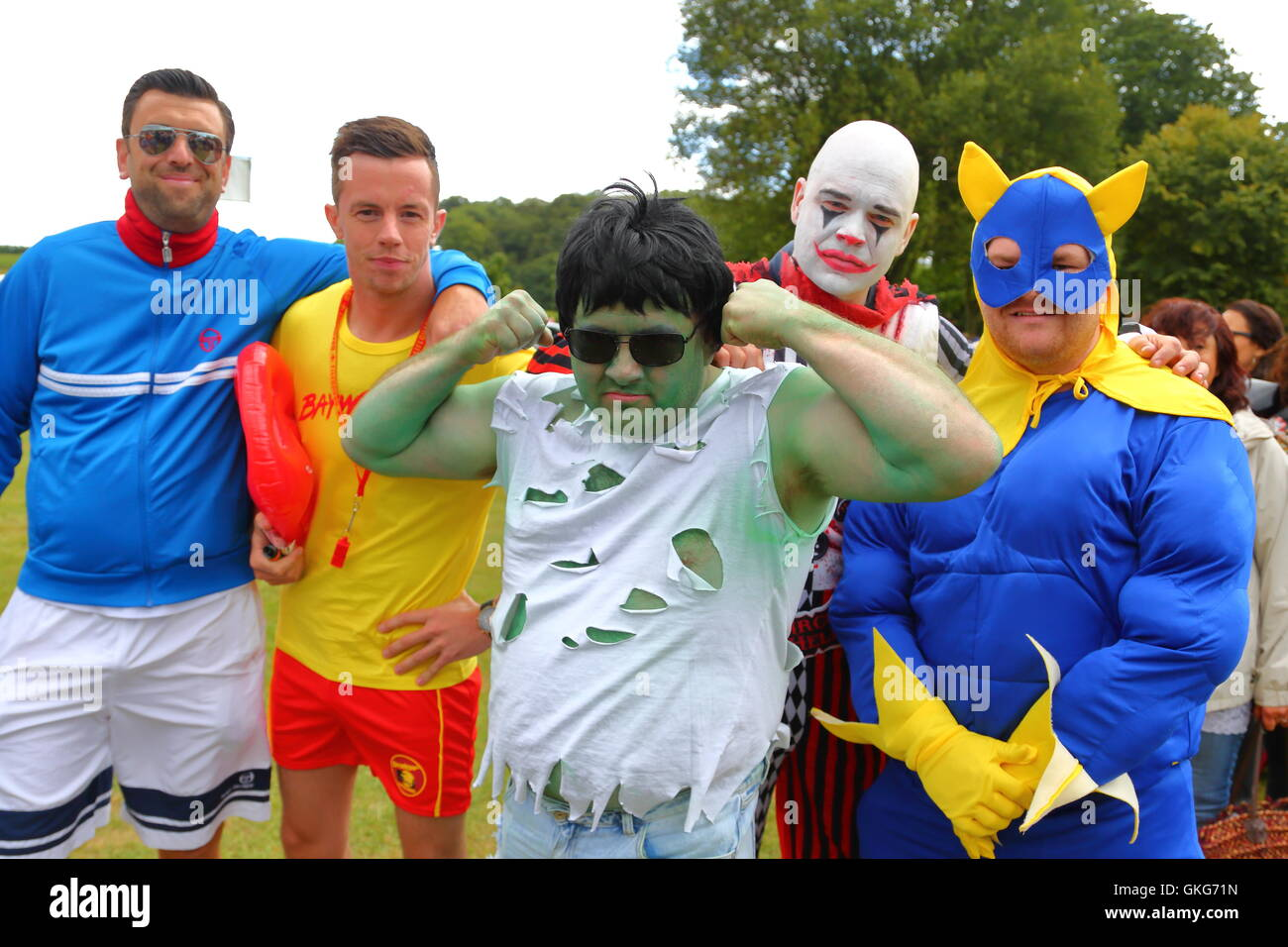Henley-on-Thames, UK. 20th August, 2016. Rewind South 80s Music Festival. The revellers dressed up for  the occasion. - Stock Image