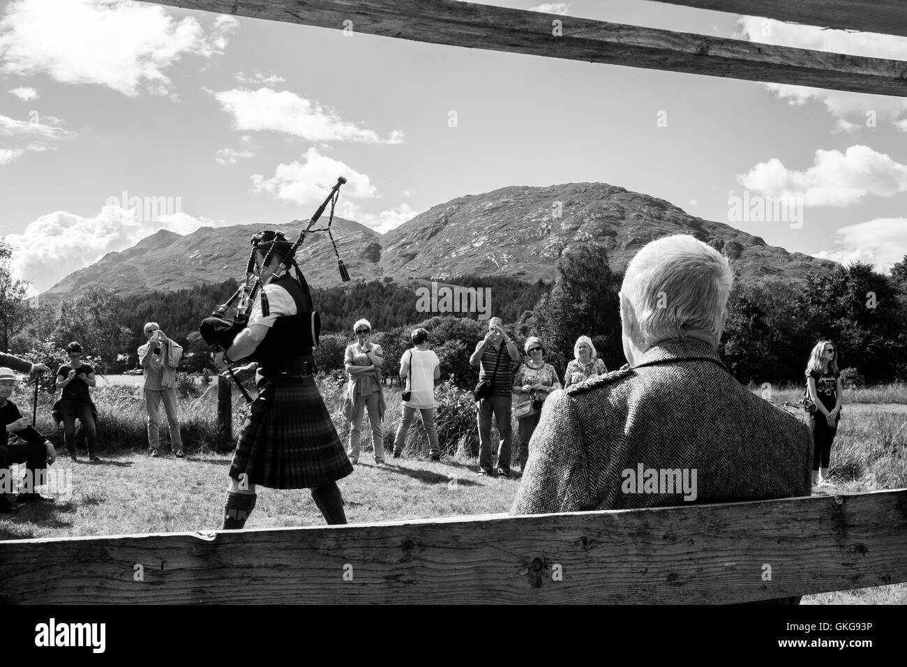 Glenfinnan gathering and games historic annual event - Stock Image