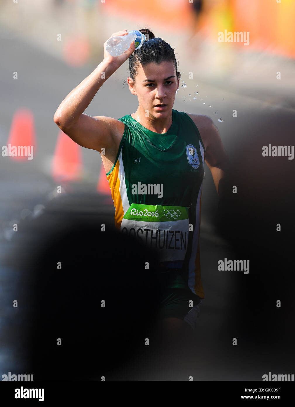 Rio de Janeiro, Brazil. 19th August, 2016. Anel Oosthuizen of South Africa during the womens 20km race walk on Day 14 of the 2016 Rio Olympics at Pontal on August 19, 2016 in Rio de Janeiro, Brazil. (Photo by Roger Sedres/Gallo Images) Credit:  Roger Sedres/Alamy Live News Stock Photo