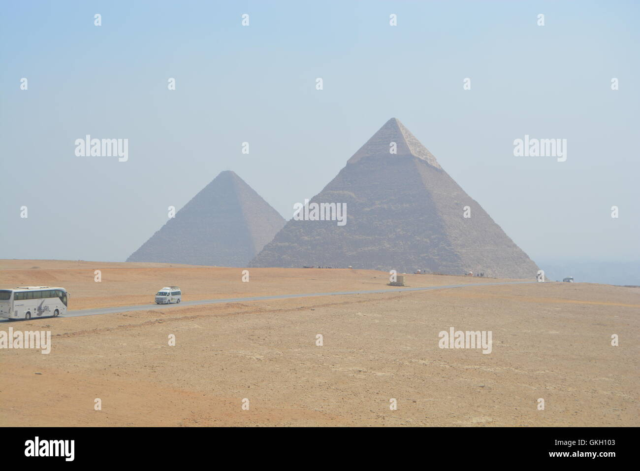 Giza Pyramids egypt - Stock Image