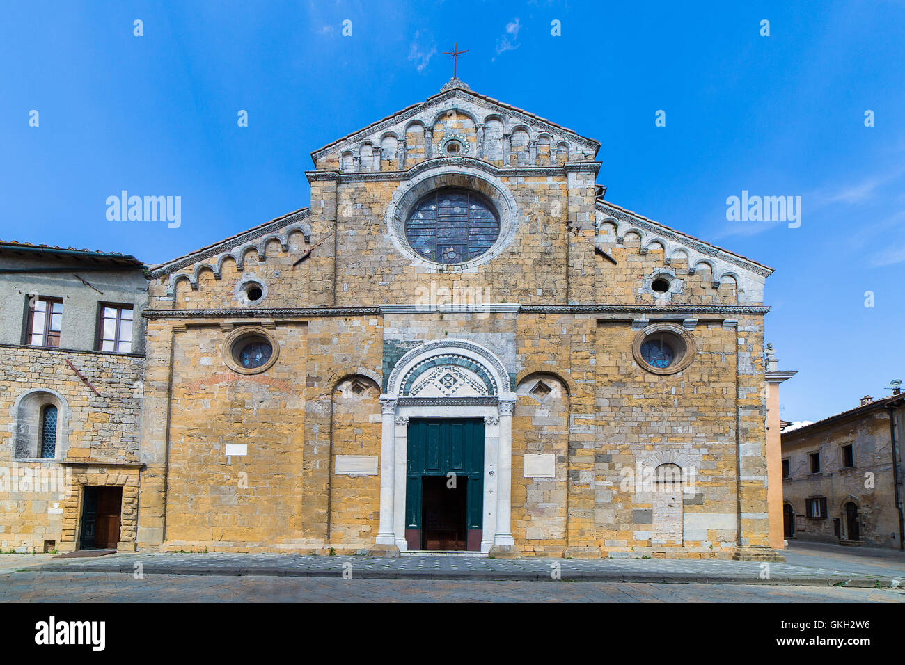 The cathedral of Santa Maria Assunta in Volterra, Tuscany, Italy. - Stock Image