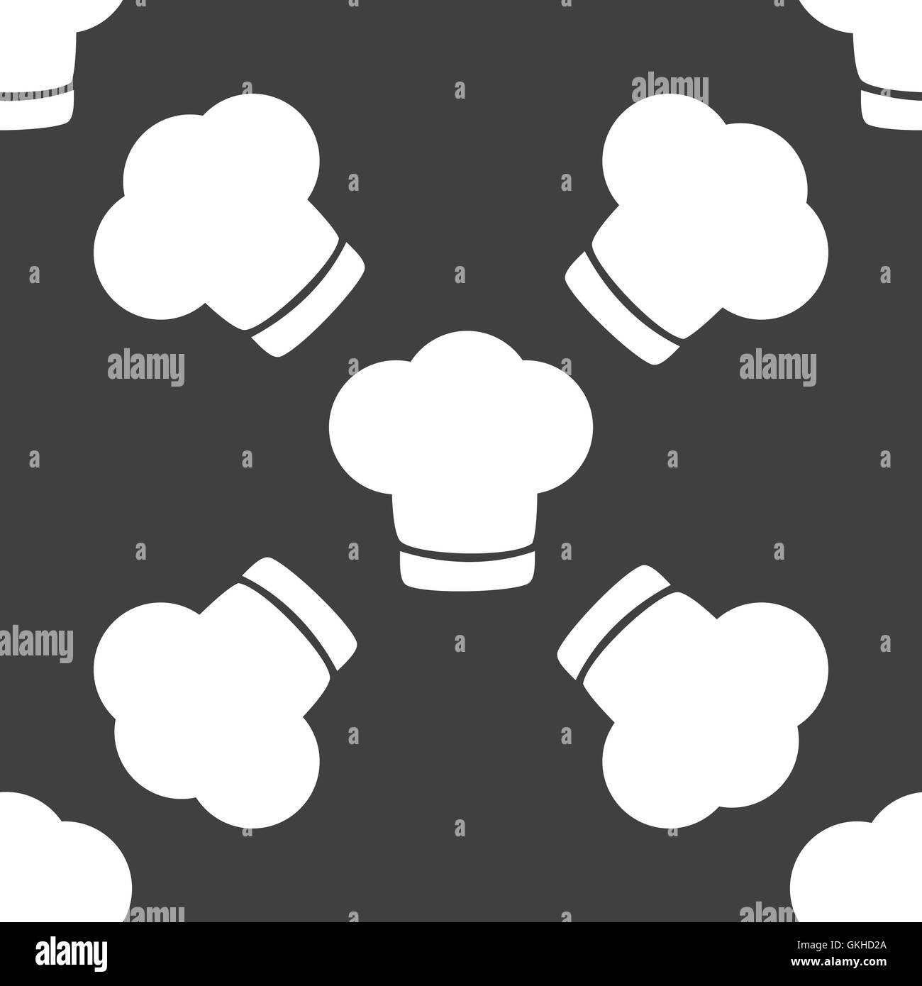 Chef cap web icon. flat design. Seamless gray pattern Stock Vector ... b0d02a7554e