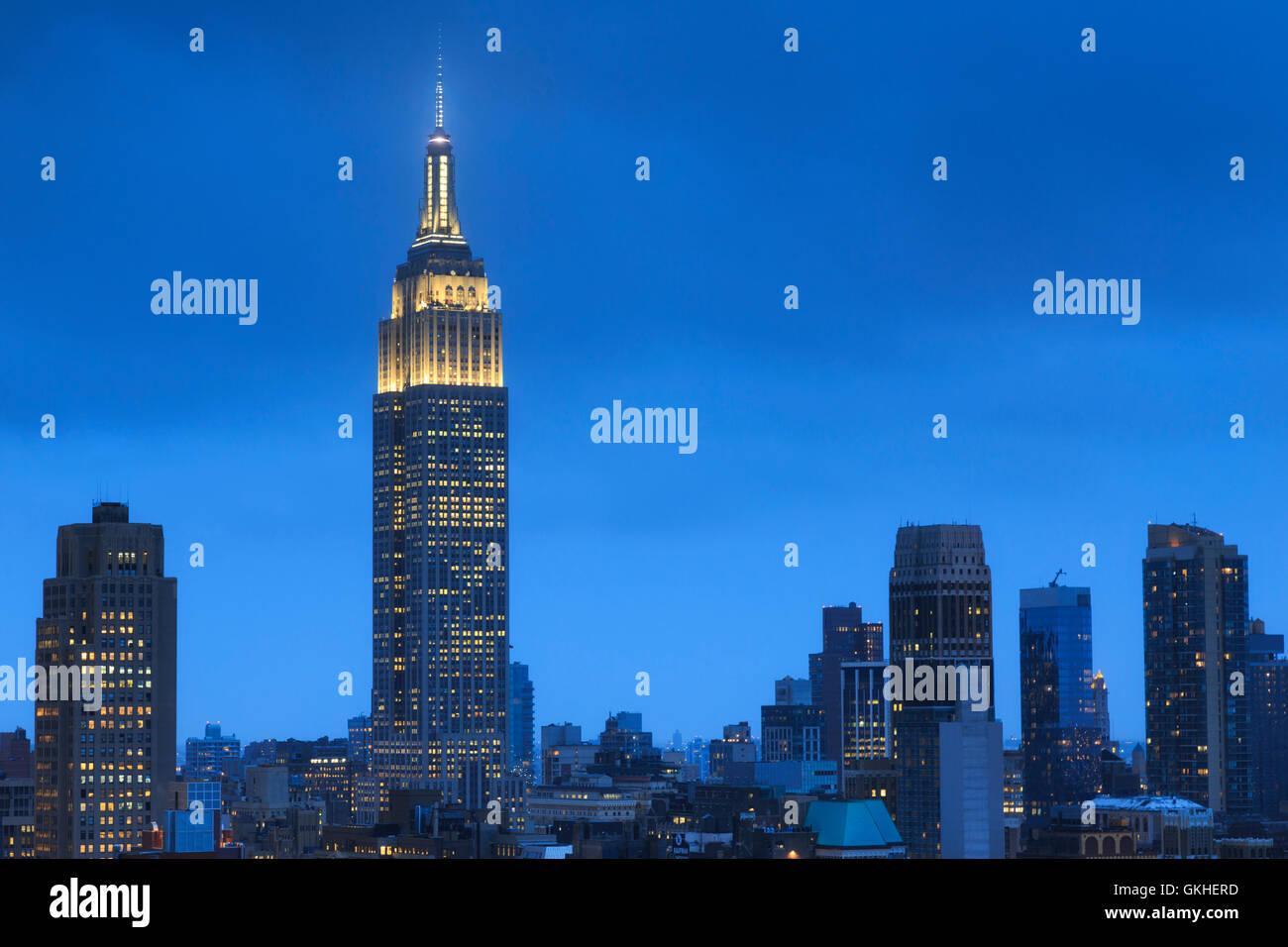 USA, New York, New York City, Manhattan, Empire State Building Stock Photo