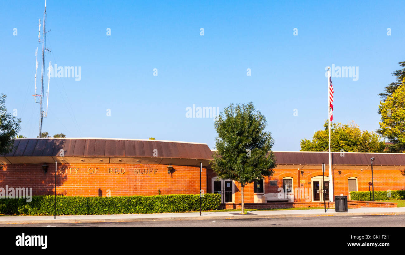 The City Hall in Red Bluff California - Stock Image