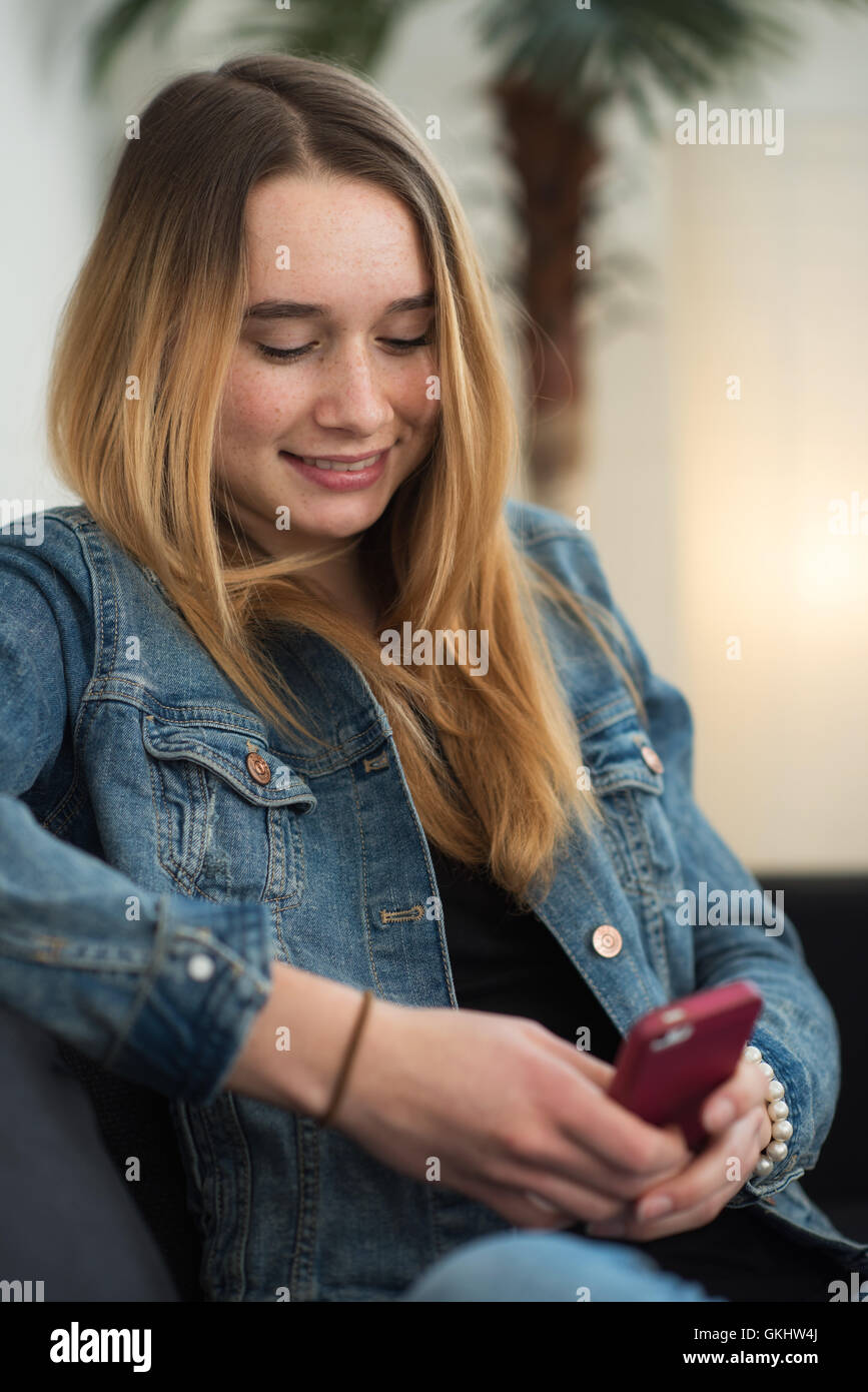 at home sms newslet - Stock Image