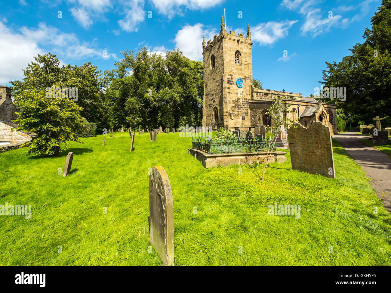 Eyam church, Eyam,Derbyshire - Stock Image
