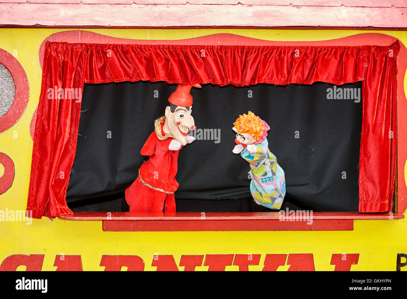 punch and judy show in the uk - Stock Image